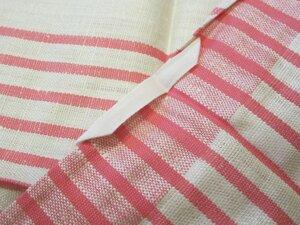 Linnehanddukar, vit -rosa