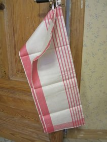 Linen Towels, pink white