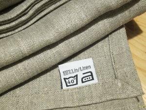 Linen tablecloth, linen offwhite