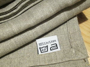 Linen tablecloth, linen brown