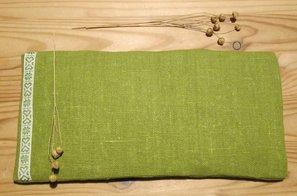 Eye pillow Linen Green Dalecarlia