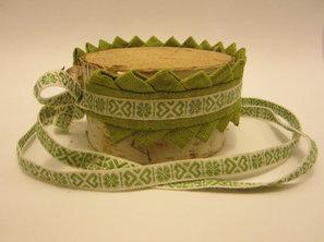 Halsband Fattigspets Knytband Gröna Dalar