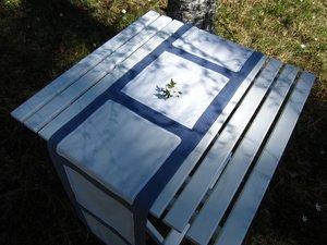 Linen tablerunner
