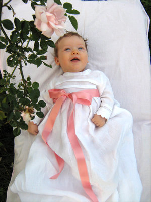 Christening robe, Poor man´s lace