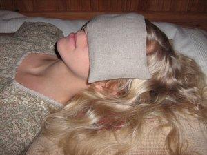 Eye pillow brown Linen