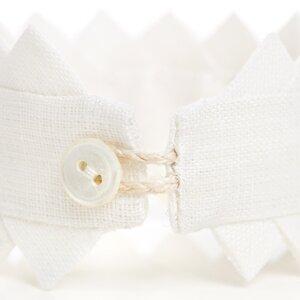 Halsband Fattigspets vit