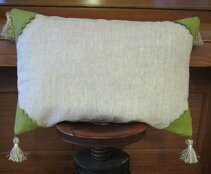 Pillow case, two colour and lace