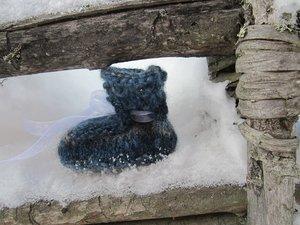 Baby shoe blue, Wålstedts wool