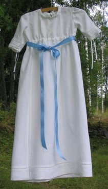 Dopklänning Stråveck Hålsöm