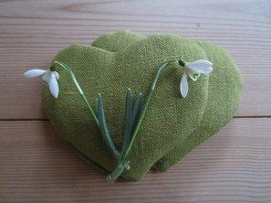 Litet vetehjärta grön