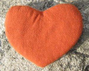 Small wheat heart - orange