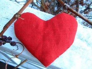 Litet vetehjärta röd
