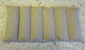 Rectangle Wheat Pillow, 6 sections